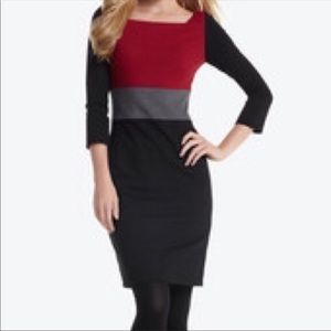 White House Black Market | Color Block Dress Sz 8